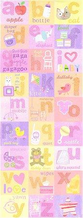 Glitter Baby Girl Alphabet Stickers