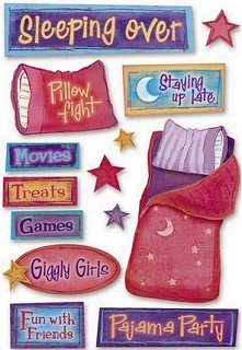 Sleeping Over Stickers
