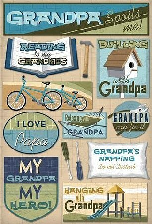 Grandpa Can Fix It Stickers
