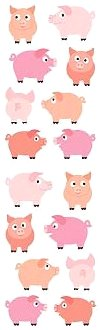 Chubby Pigs Stickers