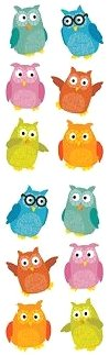 Chubby Owls Stickers