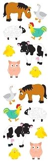 Chubby Farm Animals Stickers