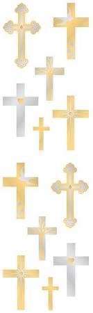 Shiny Crosses Stickers