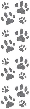 Cat Paw Prints Stickers