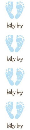 Baby Boy Feet Stickers