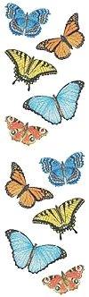 Glittery Butterflies Stickers