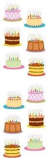 Birthday Cakes Stickers
