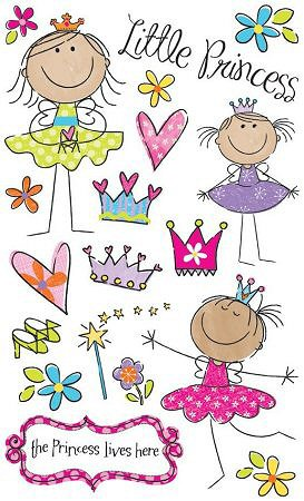 Glitter Little Princess Stickers