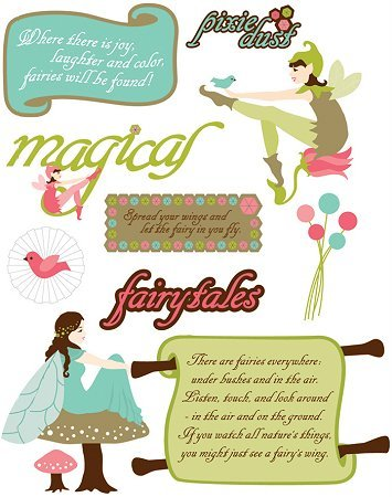 3d Fairies Stickers