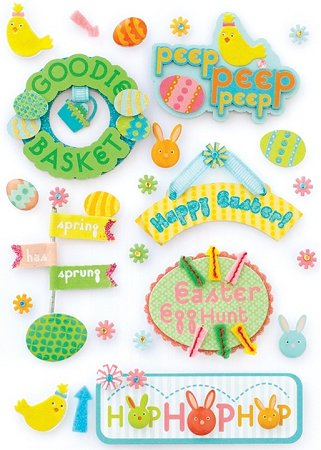 3D Easter Goodies Stickers