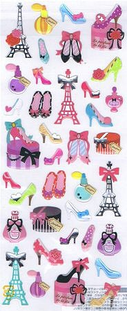 Shoe Fashion Epoxy Kawaii Stickers