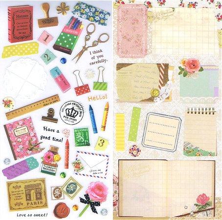 Vintage Letters Kawaii Stickers
