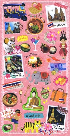 Thailand Travel Kawaii Stickers