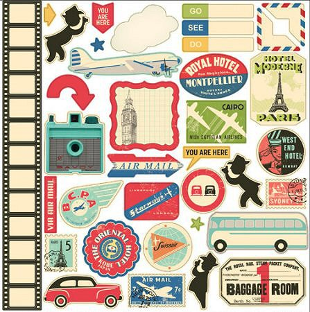 Boarding Pass Travel Stickers 10941 Vacation Stickers