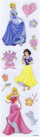 Shiny Disney Princesses Stickers