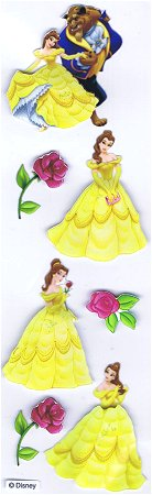 3d Beauty And The Beast Stickers