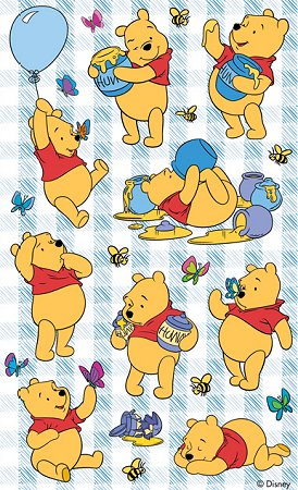 Pooh With Honey Stickers