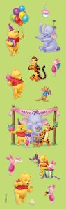 Shiny Pooh & Friends Birthday Stickers