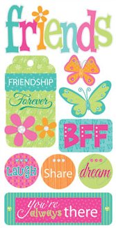 3D Friendship Forever Stickers