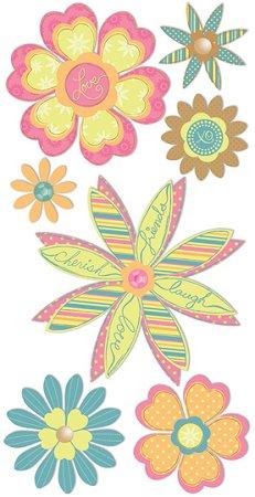 3d Pretty Flowers Stickers