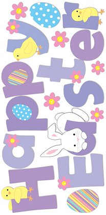 3d Happy Easter Stickers #8697 :: Easter Stickers :: Scrapbooking ...
