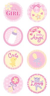 3D Cute Baby Girl Stickers