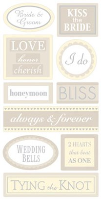 3D Wedding Words Stickers