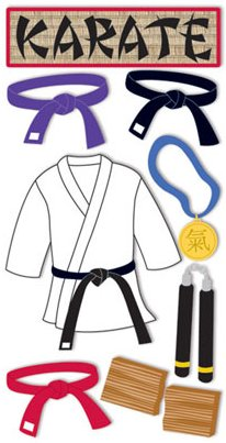 3D Karate Stickers