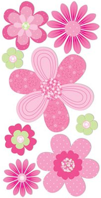 3d pink flowers stickers 9913 flower stickers scrapbooking 3d pink flowers stickers mightylinksfo
