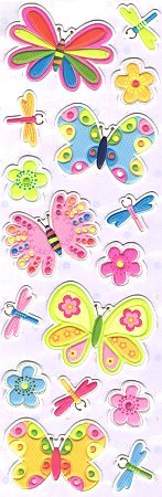 Butterflies Foam Stickers