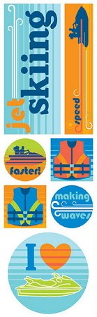 Jet Skiing Stickers