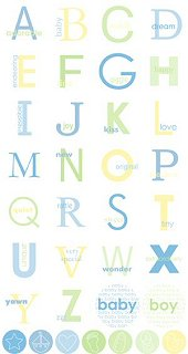 Baby Boy Circle Alphabet Stickers