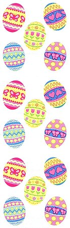 Decorated Easter Eggs Stickers