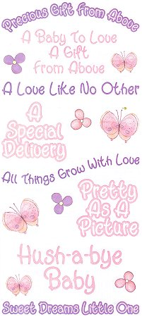 Precious Baby Girl Quotes Stickers #8671 :: Baby Stickers
