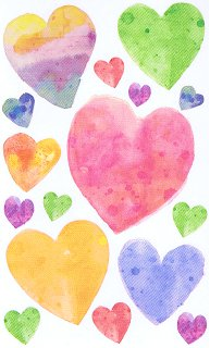 Vellum Hearts Stickers