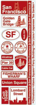 San Francisco Passports Stickers