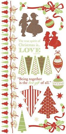 Christmas Love Rub-Ons
