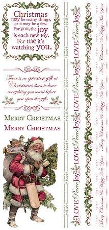 Christmas Gift Rub-Ons