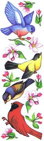 Birds & Blossoms Rub-Ons