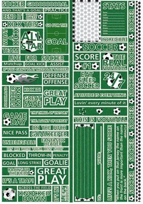 Live For Soccer Stickers