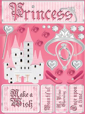 3D Princess Make A Wish Stickers