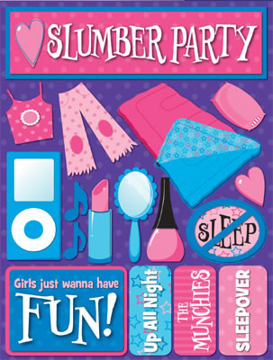 3D Slumber Party Stickers