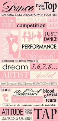 dance words stickers 8982 music stickers scrapbooking