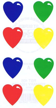 Primary Hearts Stickers