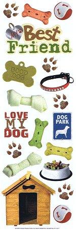 Glitter Love My Dog Rub-Ons