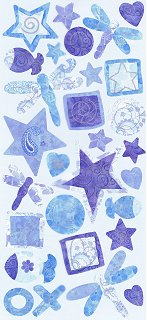 Tropical Blue Icons Stickers