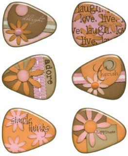 Happiness Resin Guitar Picks Stickers
