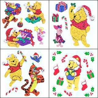 Christmas Pooh & Friends Stickers