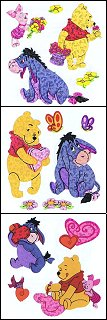 Shiny Pooh & Friends Stickers