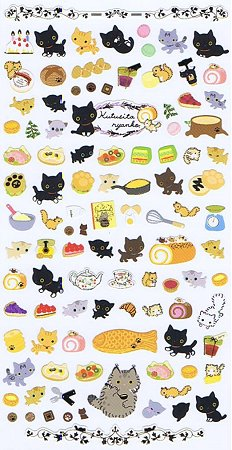 Kutusita Nyanko Cat Picnic 2 Kawaii Stickers